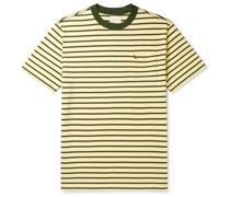 Logo-Embroidered Striped Cotton-Jersey T-Shirt