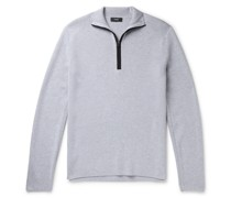 Taner Mélange Wool and Cotton-Blend Half-Zip Sweater