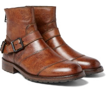 Trialmaster Burnished-leather Boots