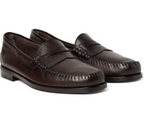 Crewe Leather Penny Loafers