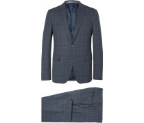 Prince Of Wales Checked Wool Suit