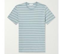 Garment-Dyed Striped Cotton-Blend Jersey T-Shirt