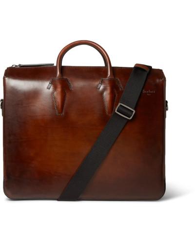 Berluti Herren Profil Deux Leather Briefcase