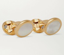+ Deakin & Francis Gold-Plated Mother-of-Pearl Cufflinks
