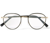 Round-frame Acetate And Gold-tone Optical Glasses