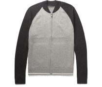 Cotton, Wool And Cashmere-blend Zip-up Sweater