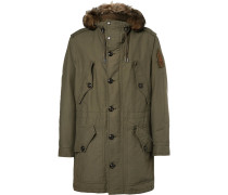 Cotton-blend Canvas Padded Parka