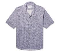 Panama Camp-collar Printed Cotton-poplin Shirt