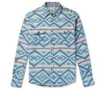 Belmar Printed Brushed Cotton-jacquard Shirt