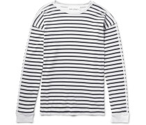 Striped Washed-cotton Jersey T-shirt