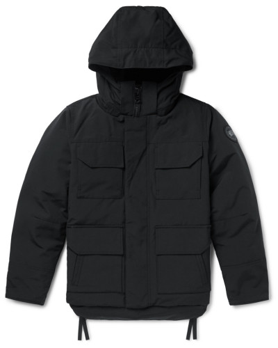 Black Label Maitland Shell Hooded Down Parka - Black