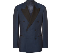Blue Harry Slim-fit Double-breasted Wool Tuxedo Jacket