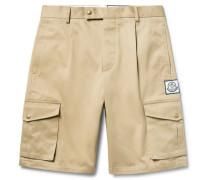 Slim-fit Cotton-gabardine Cargo Shorts