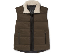 Fyfield Shearling-trimmed Quilted Ripstop Gilet