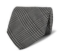 8.5cm Prince Of Wales Checked Silk Tie