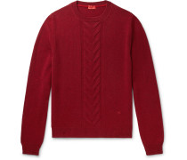 Slim-Fit Cable-Knit Wool Sweater