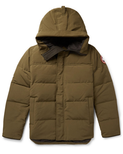 Macmillan Quilted Shell Hooded Down Parka - Army green