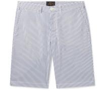 Slim-Fit Striped Seersucker Shorts