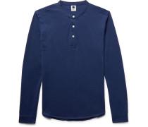 Jed Slim-fit Grandad-collar Cotton-jersey T-shirt