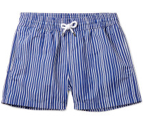Tracos Striped Mid-length Swim Shorts