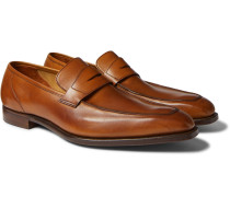 George Leather Penny Loafers
