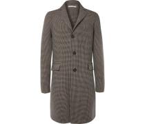 Austin Houndstooth Wool Overcoat
