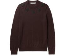 Slim-fit Star Appliquéd Wool Sweater