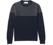 Jacquard-knit Merino Wool And Cashmere-blend Sweater