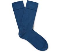 Sea Island Cotton-blend Socks