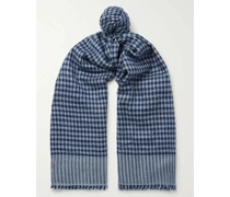 Houndstooth Cashmere Scarf