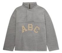 Logo-Flocked Cotton-Blend Jersey Half-Zip Sweatshirt