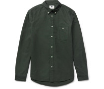New Derek Slim-fit Button-down Collar Cotton Oxford Shirt