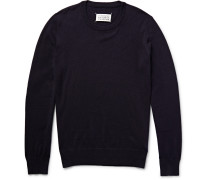 Elbow Patch Cotton And Wool-blend Sweater
