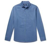 + Johannes Huebl Cotton-Chambray Shirt