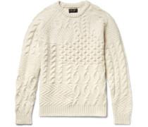 Slim-fit Textured Wool-blend Sweater