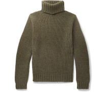 Cashmere Rollneck Sweater - Army green