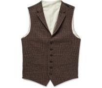 Checked Wool Waistcoat