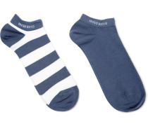 Two-pack Cotton-blend Socks