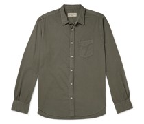 Lipp Slim-Fit Garment-Dyed Cotton-Twill Shirt