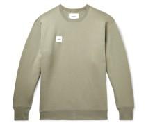 Logo-Appliquéd Fleece-Back Cotton-Jersey Sweatshirt