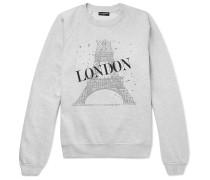 Oversized Printed Fleece-back Cotton-blend Jersey Sweatshirt