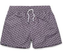 Sidewalk Slim-fit Short-length Printed Swim Shorts