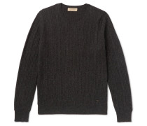 Cable-knit Mélange Cashmere Sweater