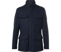 Water-resistant Trofeo Wool And Cashmere-blend Jacket