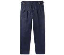 Manny Tapered Pleated Wool Trousers