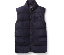 Lloyd Quilted Suede Down Gilet
