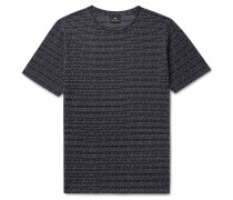 Broken Stripe Cotton-jacquard T-shirt