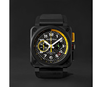 Limited Edition Br 03-94 Rs17 42mm Ceramic And Rubber Chronograph Watch