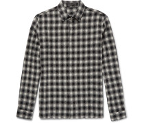 Checked Wool And Cotton-blend Shirt