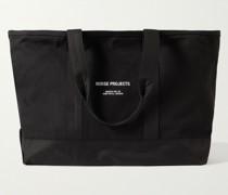 Stefan Logo-Print Nylon-Trimmed Canvas Tote Bag
